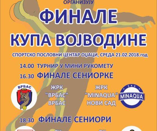 Odžaci: Finale Kupa Vojvodine