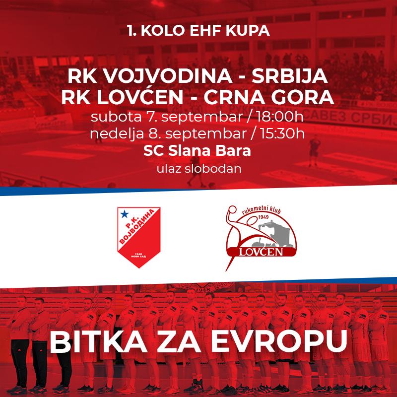 EHF: Voša – Lovćen (dvomeč u N.Sadu)